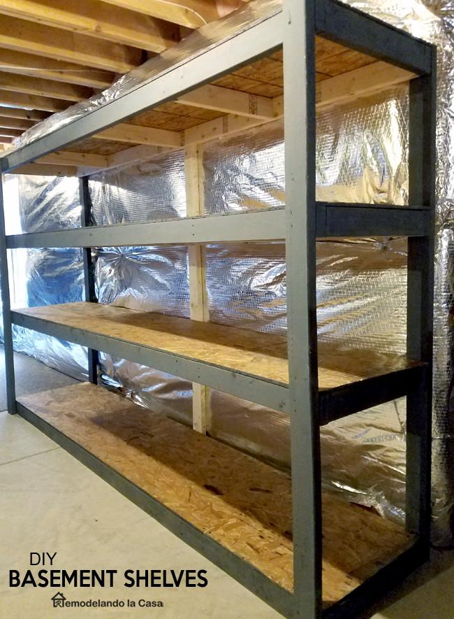 Best ideas about DIY Basement Storage Shelves . Save or Pin DIY Basement Shelves with video Remodelando la Casa Now.