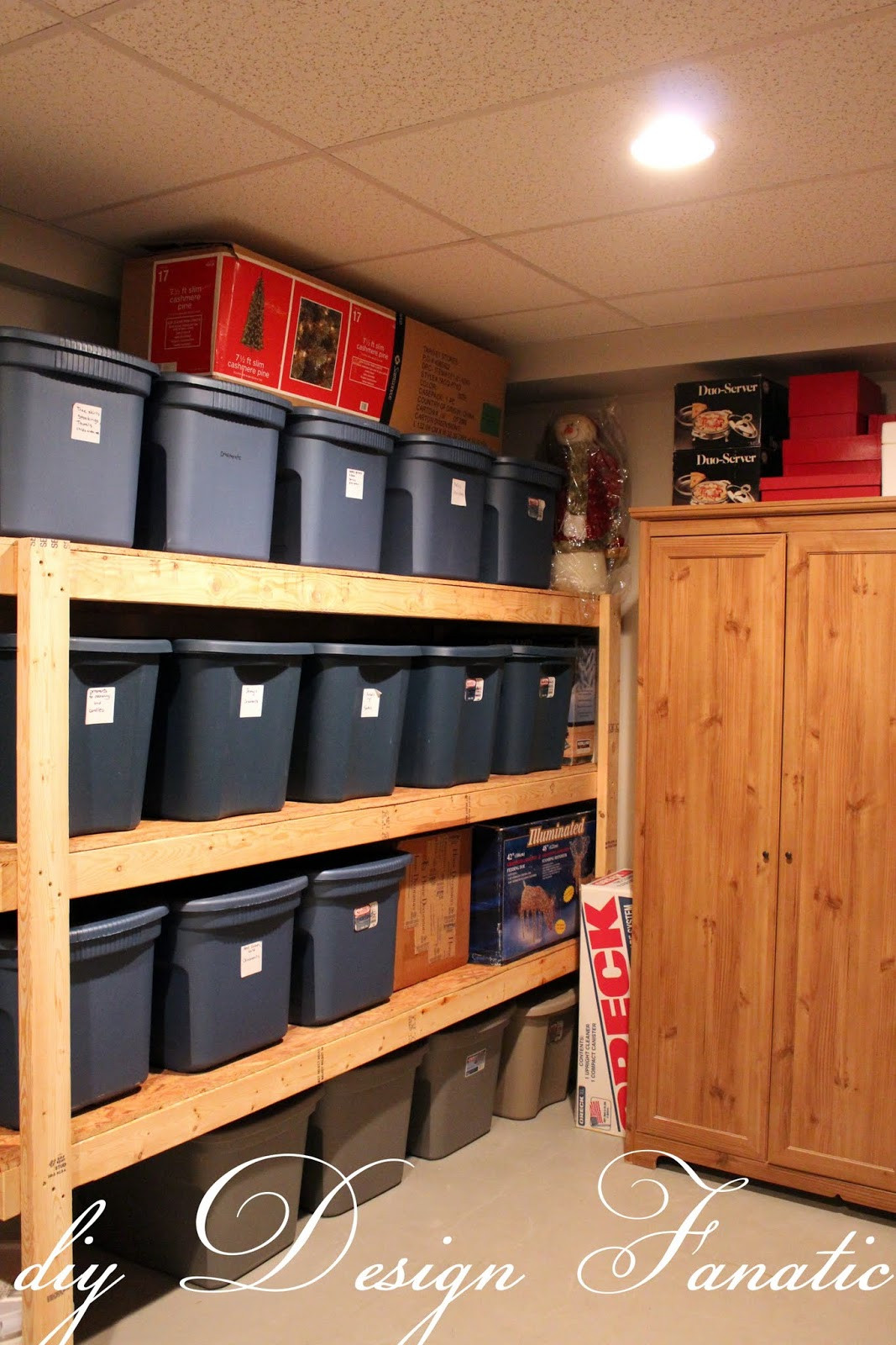 Best ideas about DIY Basement Storage Shelves . Save or Pin storage shelves Now.