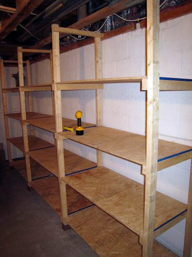Best ideas about DIY Basement Storage Shelves . Save or Pin How to Build Inexpensive Basement Storage Shelves e Now.