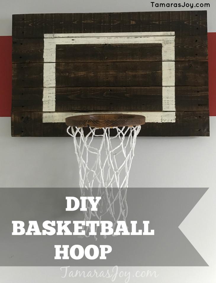 Best ideas about DIY Basketball Hoop . Save or Pin DIY Basketball Hoop for my boys bedroom Tamara s Joy Now.