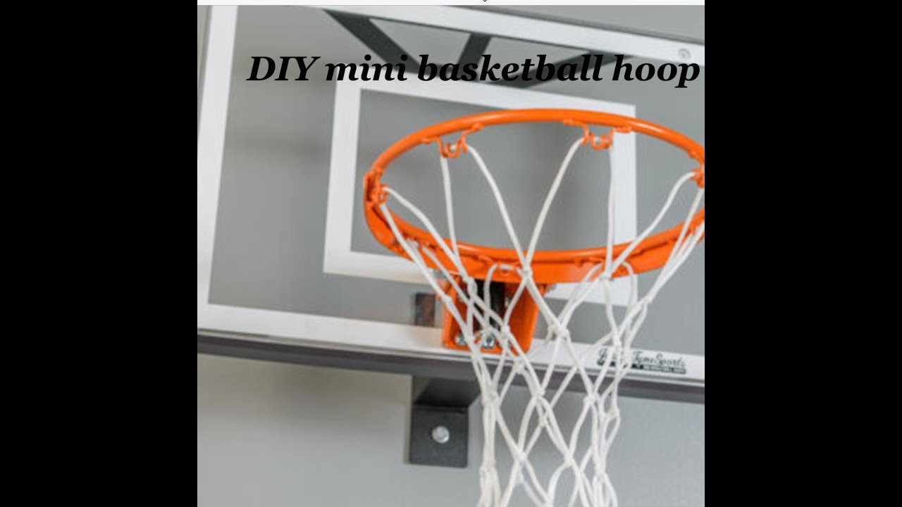 Best ideas about DIY Basketball Hoop . Save or Pin DIY MINI BASKETBALL HOOP Awesome Now.