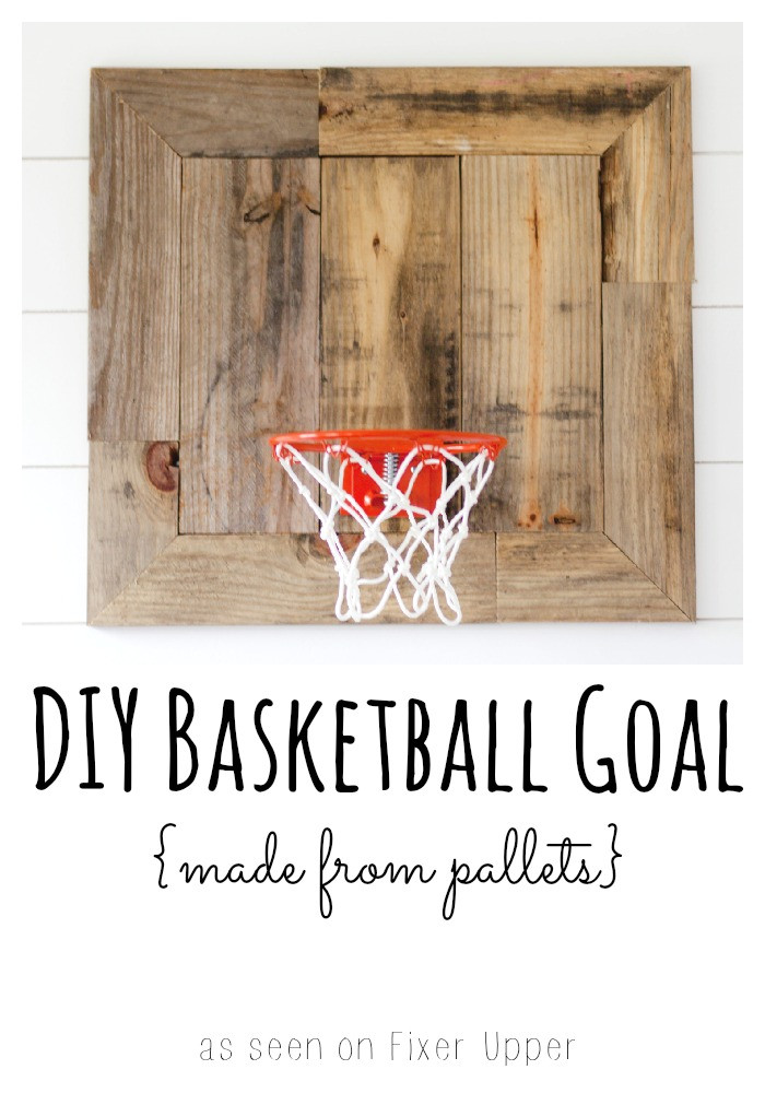 Best ideas about DIY Basketball Hoop . Save or Pin DIY Basketball Goal Made with Pallets Restless Arrow Now.