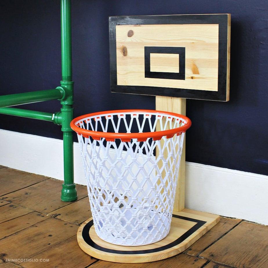 Best ideas about DIY Basketball Hoop . Save or Pin DIY Basketball Hoop Trash Can Jaime Costiglio Now.