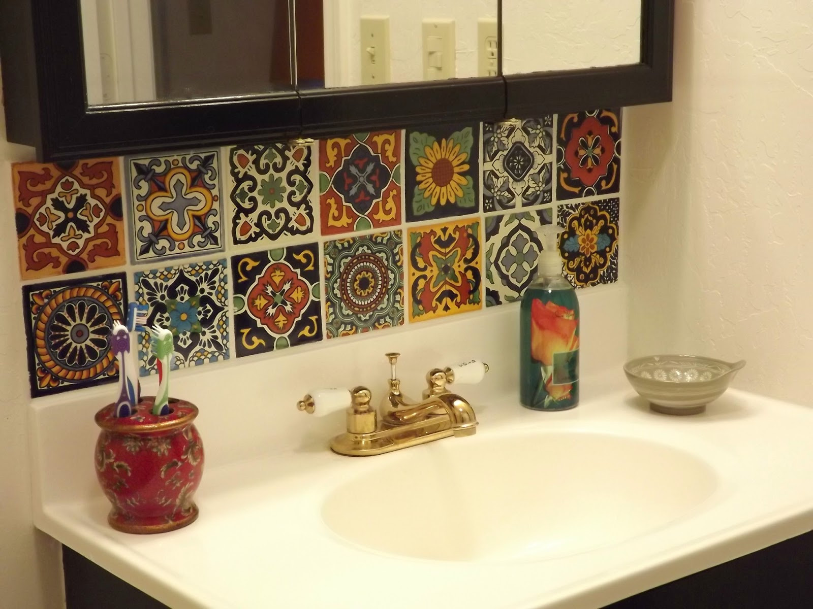 Best ideas about DIY Bathroom Backsplash . Save or Pin Dusty Coyote Mexican Tile Kitchen Backsplash DIY Now.