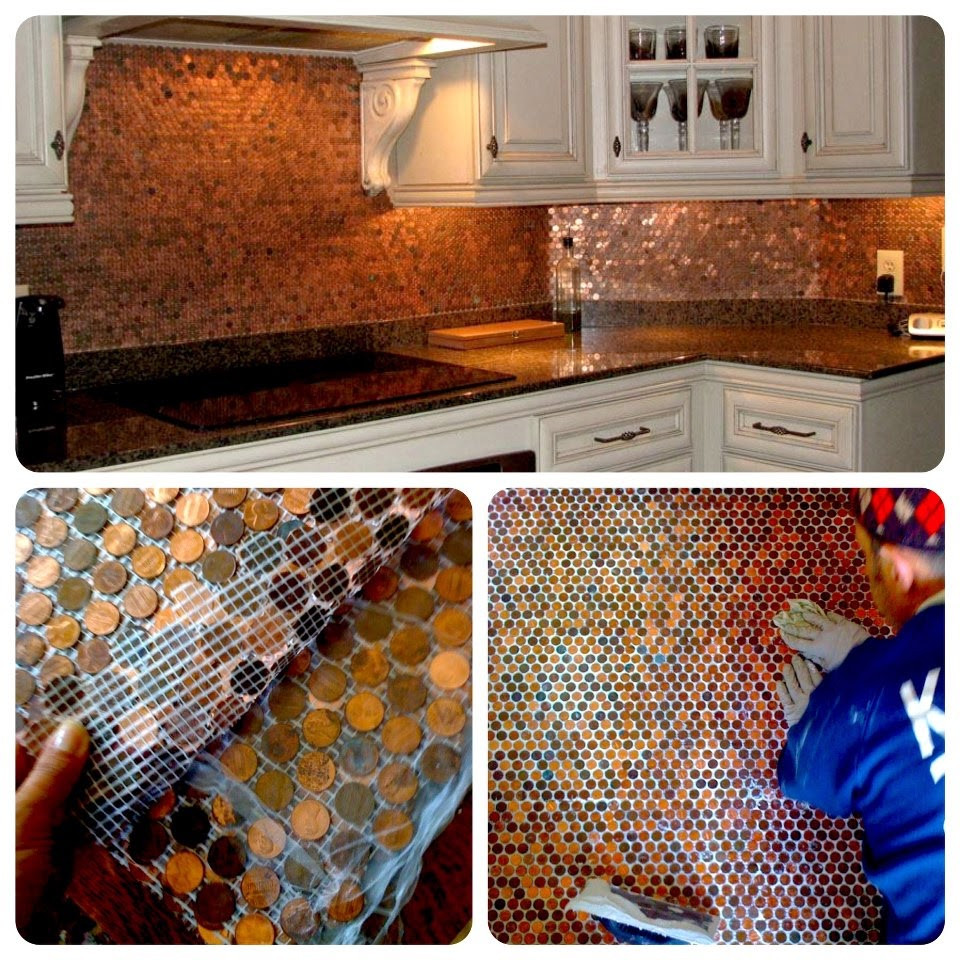 Best ideas about DIY Bathroom Backsplash . Save or Pin Make A Penny Backsplash For An Expensive Look Now.