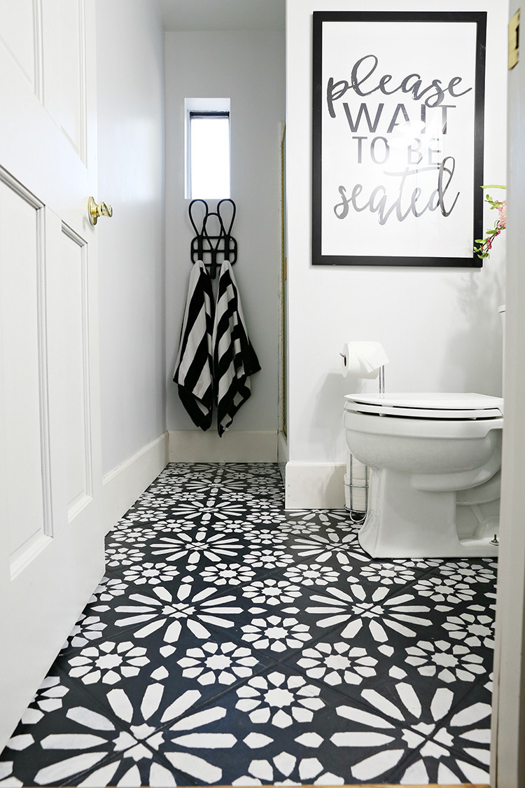 Best ideas about DIY Bathroom Floor . Save or Pin DIY Painted Stencil Bathroom Floor The Home Depot Blog Now.