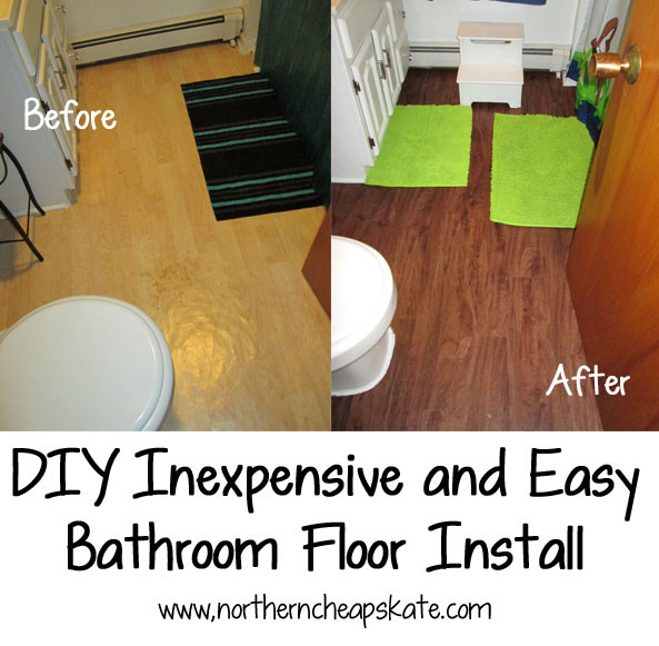 Best ideas about DIY Bathroom Floor . Save or Pin DIY Inexpensive and Easy Bathroom Floor Install Now.