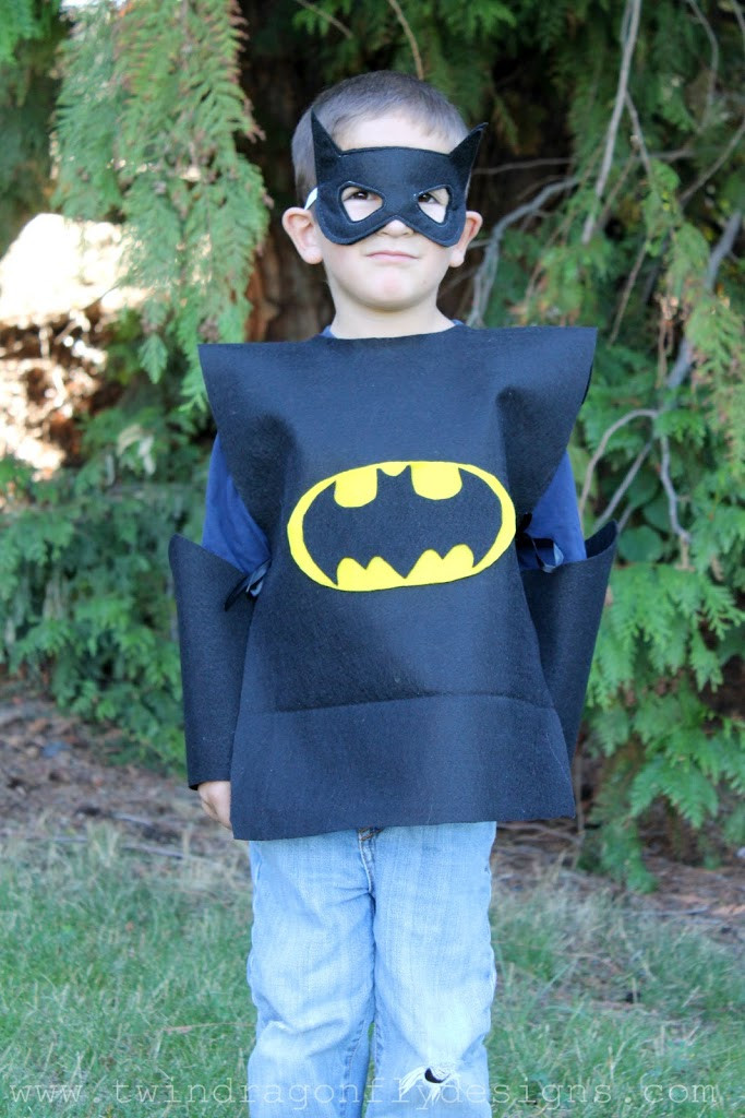 Best ideas about DIY Batman Costume . Save or Pin No Sew SUPER HERO COSTUMES Tutorial Dragonfly Designs Now.