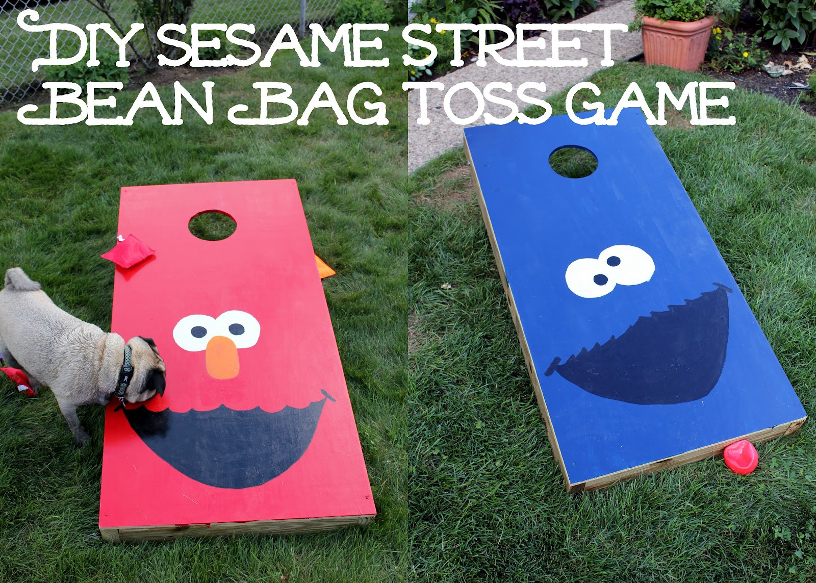 Best ideas about DIY Bean Bag Toss . Save or Pin Lanes Long Island Sesame Street First Birthday Party Now.
