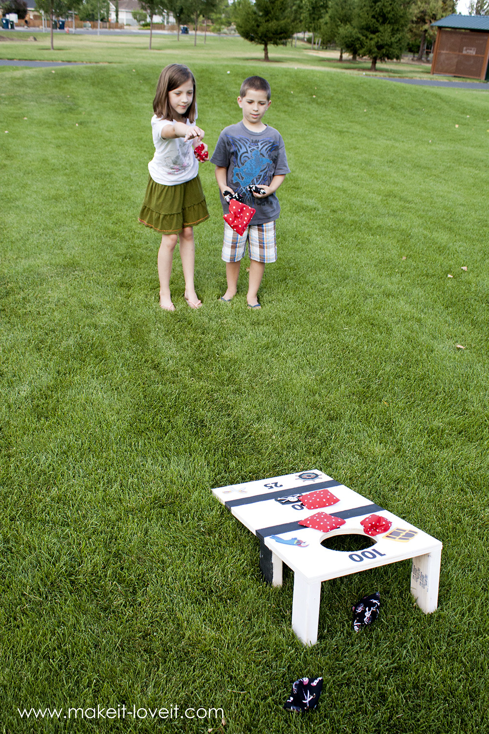 Best ideas about DIY Bean Bag Toss . Save or Pin DIY Bean Bag Toss fun for the whole family Now.