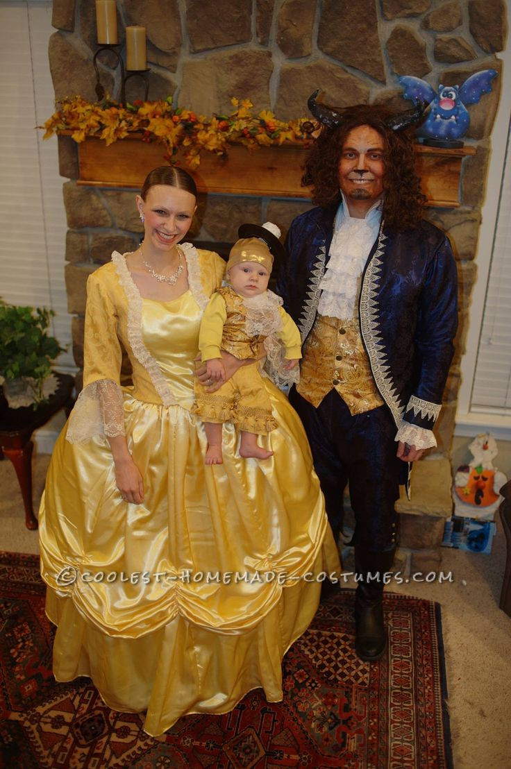 Best ideas about DIY Beauty And The Beast Costume . Save or Pin Beauty and the Beast with Baby Lumiere Family Costume Now.