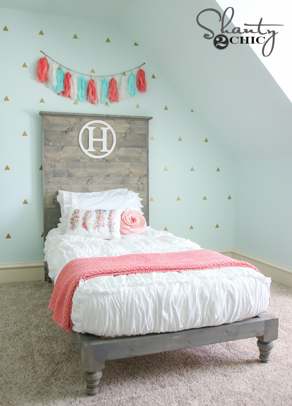 Best ideas about DIY Bed Headboards . Save or Pin DIY Twin Platform Bed and Headboard Shanty 2 Chic Now.