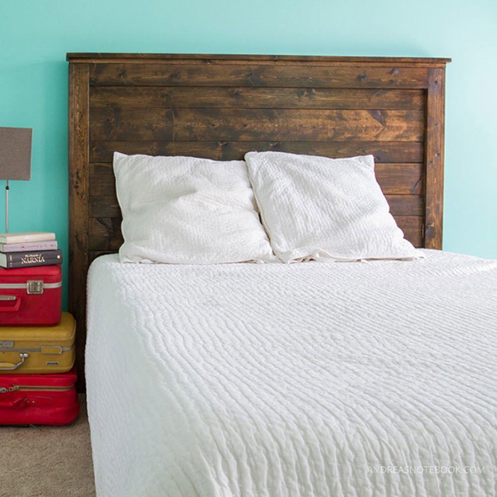 Best ideas about DIY Bed Headboards . Save or Pin DIY Wood Pallet Headboard DIY Headboard Ideas 16 Now.