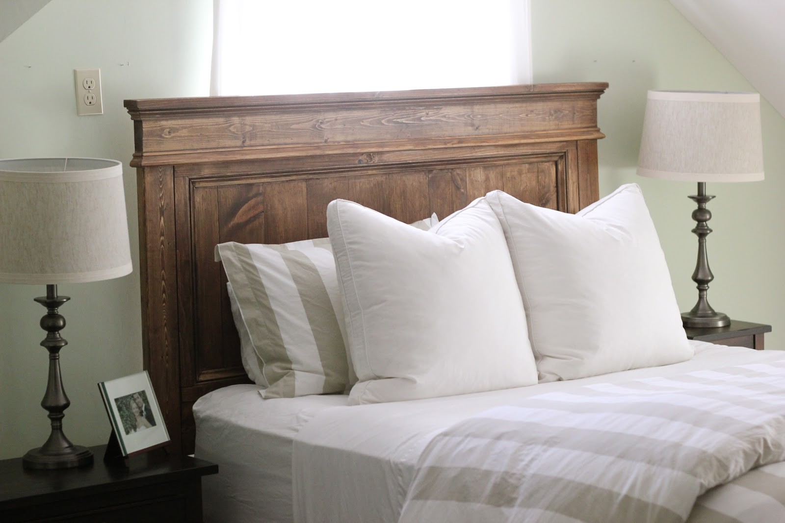 Best ideas about DIY Bed Headboards . Save or Pin Jenny Steffens Hobick We built a bed DIY Wooden Headboard Now.