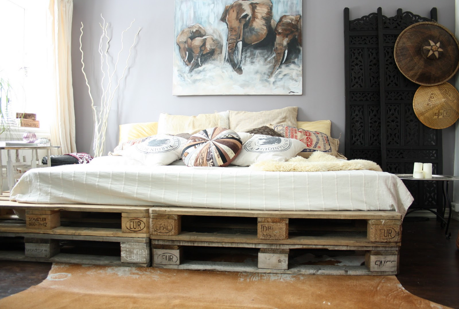 Best ideas about DIY Bed Ideas . Save or Pin 20 brilliant wooden pallet bed frame ideas for your house Now.
