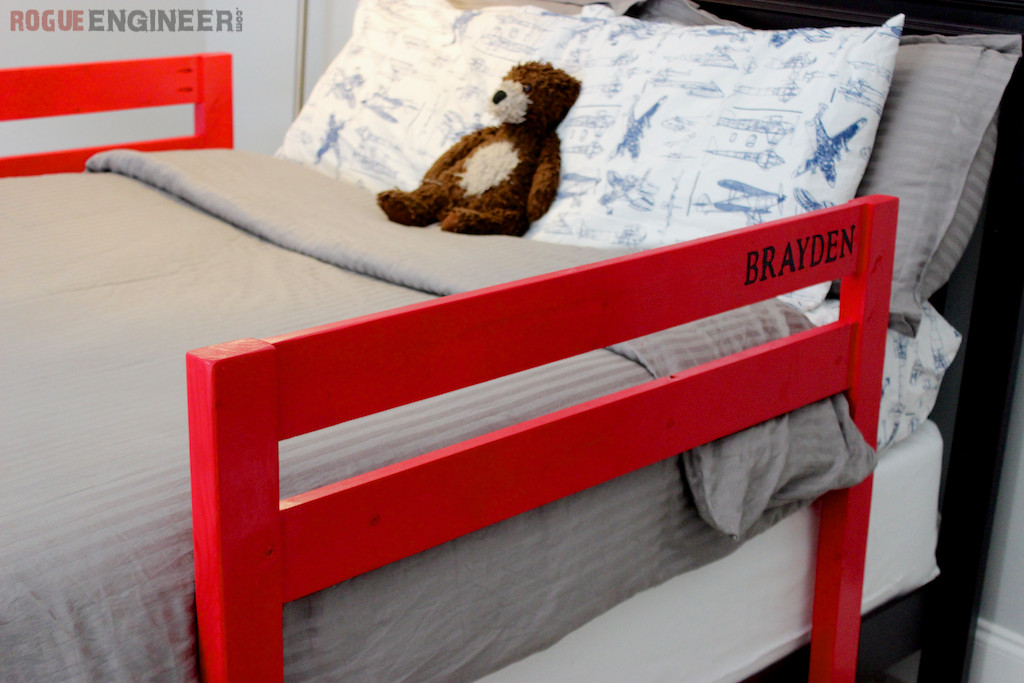 Best ideas about DIY Bed Rail . Save or Pin DIY Toddler Bed Rail Free Plans Now.
