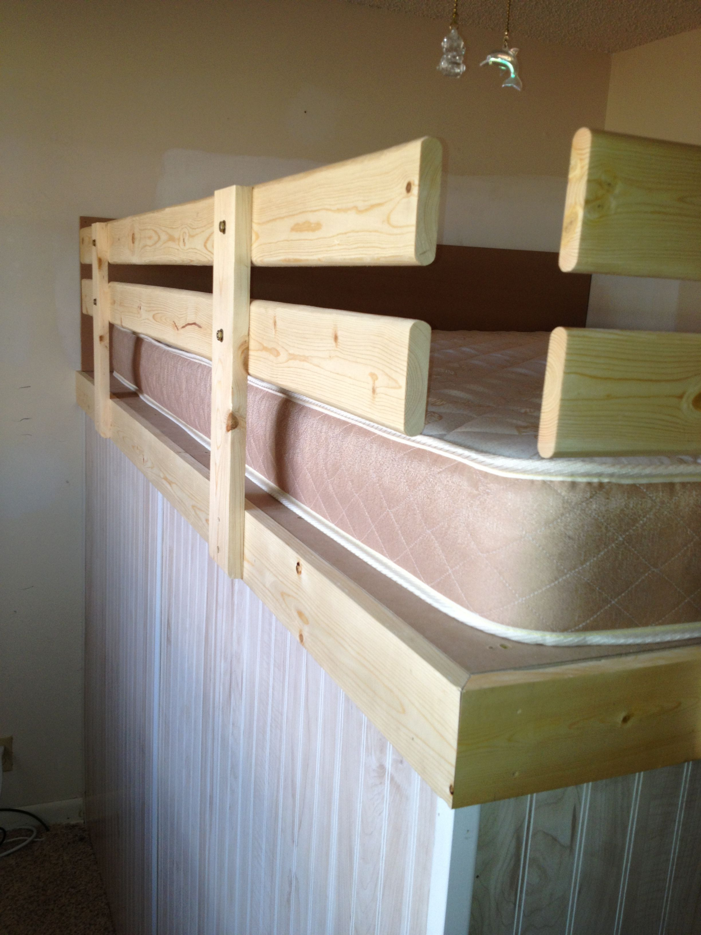 Best ideas about DIY Bed Rails . Save or Pin Safety rails for loft bed grodconstruction diy Now.