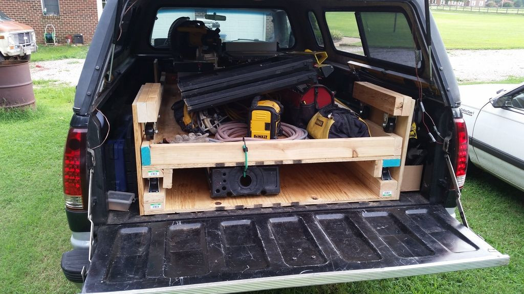 Best ideas about DIY Bed Slide . Save or Pin DIY Truck Bed Slide Out Woodworking Talk Woodworkers Forum Now.