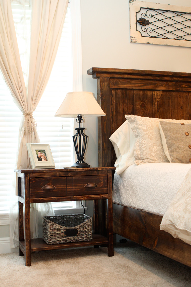 Best ideas about DIY Bed Table . Save or Pin DIY Farmhouse Bedside Tables – DIYstinctly Made Now.