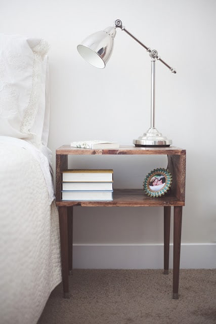 Best ideas about DIY Bed Table . Save or Pin 33 Simply Brilliant Cheap DIY Nightstand Ideas Now.