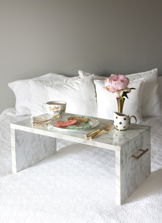 Best ideas about DIY Bed Table . Save or Pin 40 Awesome Faux Marble DIYs Now.