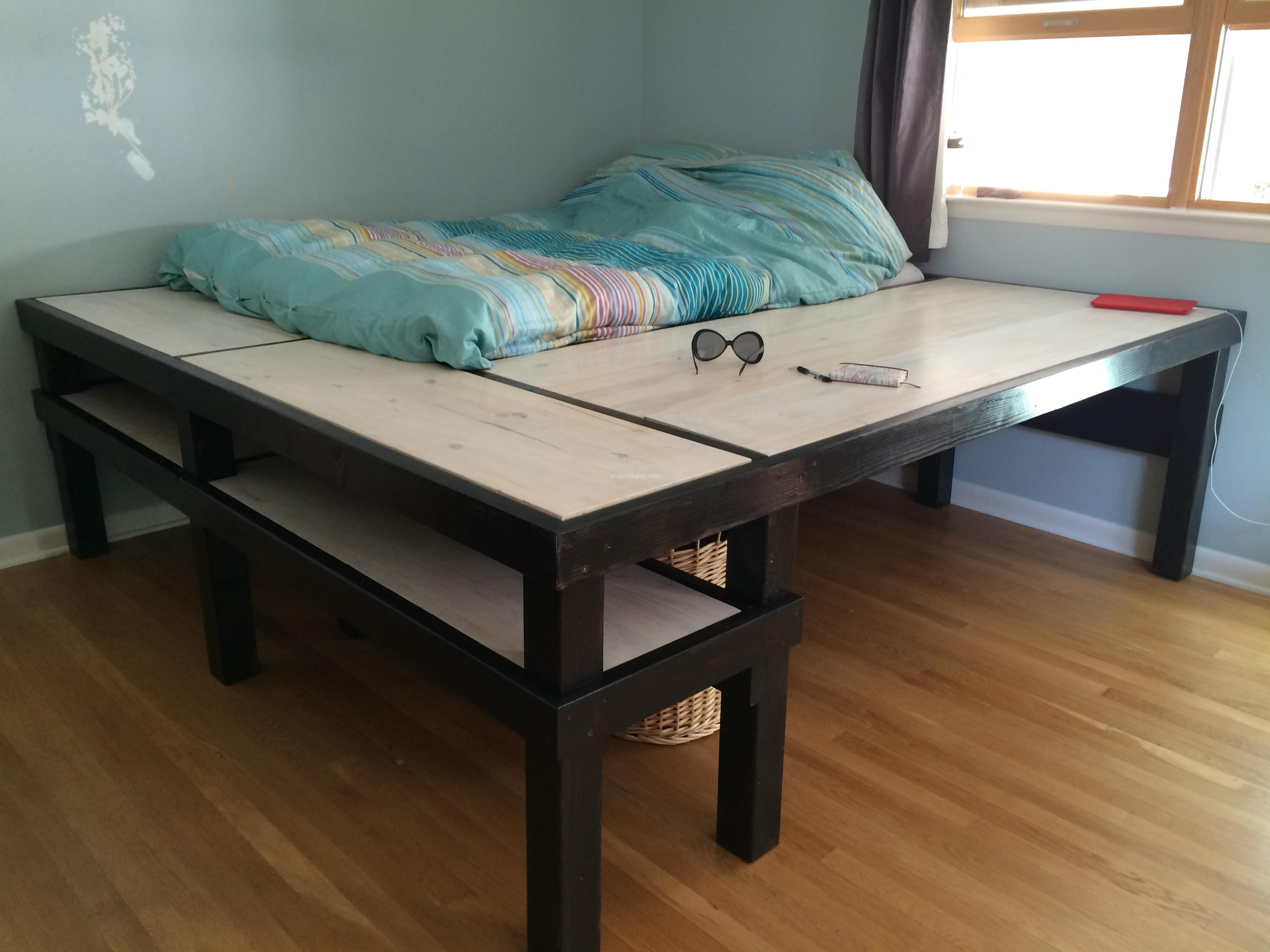 Best ideas about DIY Bed Table . Save or Pin DIY Bed Desk Now.
