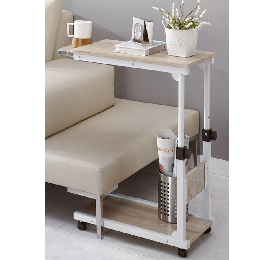 Best ideas about DIY Bed Table . Save or Pin DIY Steel Food Wheel Table Side Table Laptop Desk Table Now.