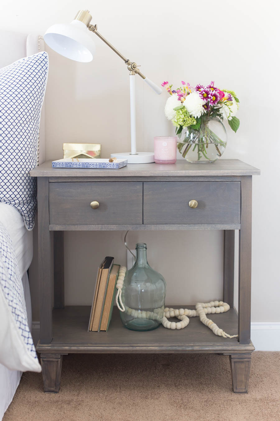Best ideas about DIY Bed Table . Save or Pin DIY Pottery Barn Inspired Sausalito Bedside Table Now.