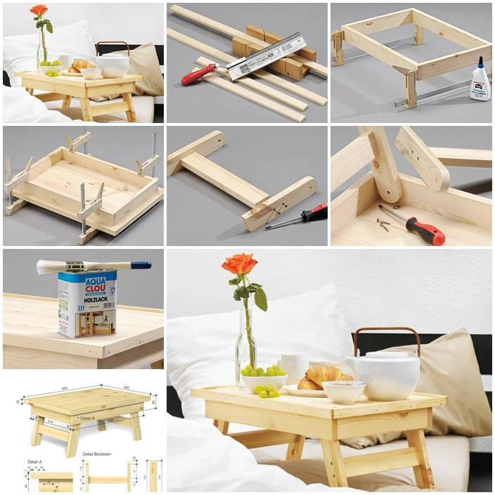Best ideas about DIY Bed Table . Save or Pin DIY Simple Bed Tray Now.