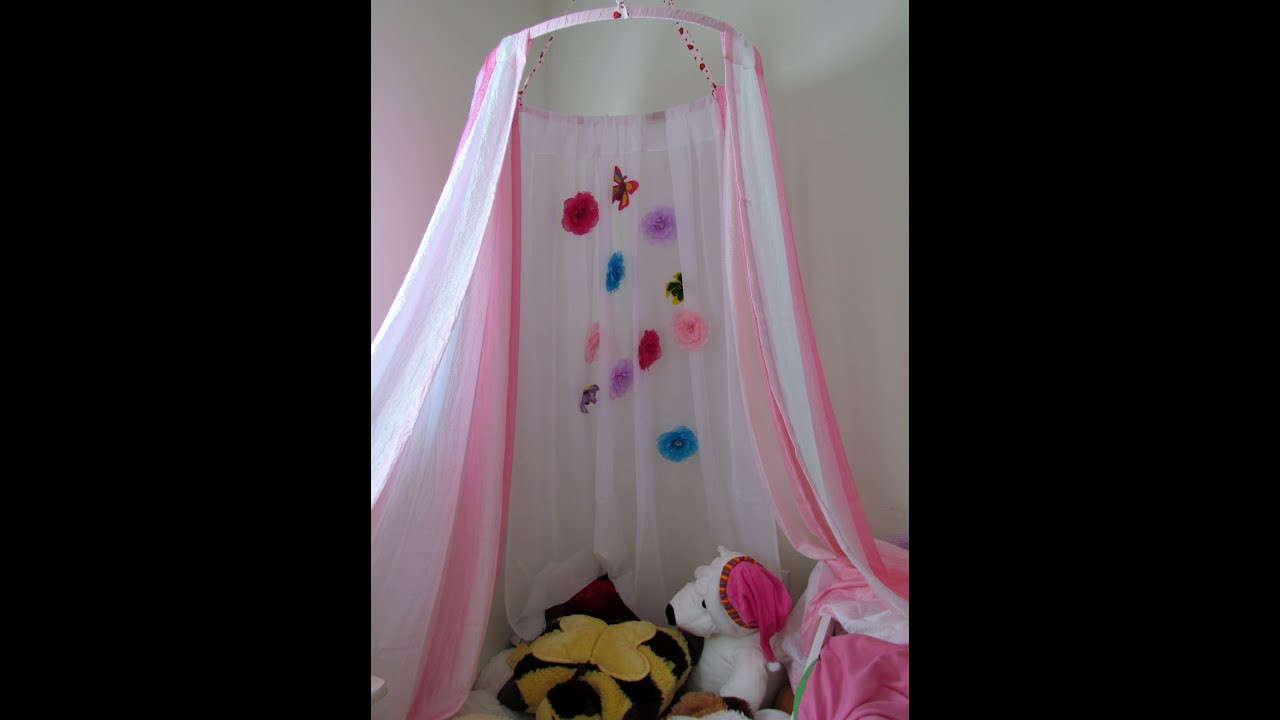 Best ideas about DIY Bed Tents . Save or Pin How to make a Canopy Tent Craft DIY No Sew Kid s Canopy Now.