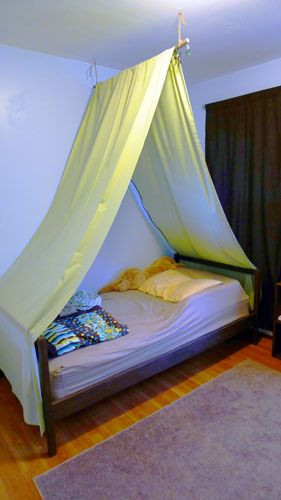 Best ideas about DIY Bed Tents . Save or Pin DIY bed tent I would use pretty fabric so it didn t look Now.