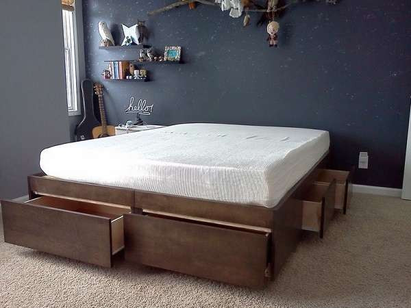 Best ideas about DIY Bed With Drawers . Save or Pin 10 Smart DIY Storage Bed Design Ideas Now.
