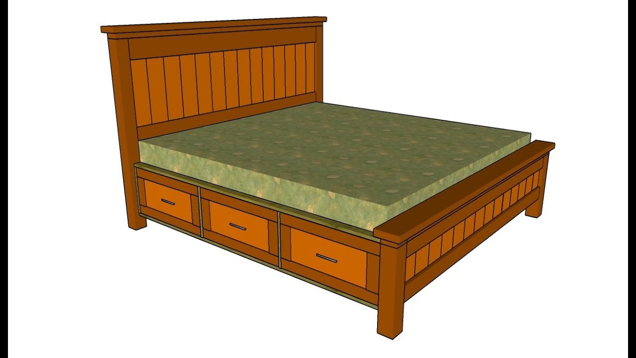 Best ideas about DIY Bed With Drawers . Save or Pin How to build a bed frame with drawers Now.