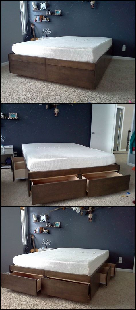 Best ideas about DIY Bed With Drawers . Save or Pin Do It Yourself Bed With Drawers Now.