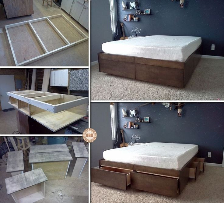 Best ideas about DIY Bed With Drawers . Save or Pin Free Bed Frame Plans With Drawers WoodWorking Projects Now.
