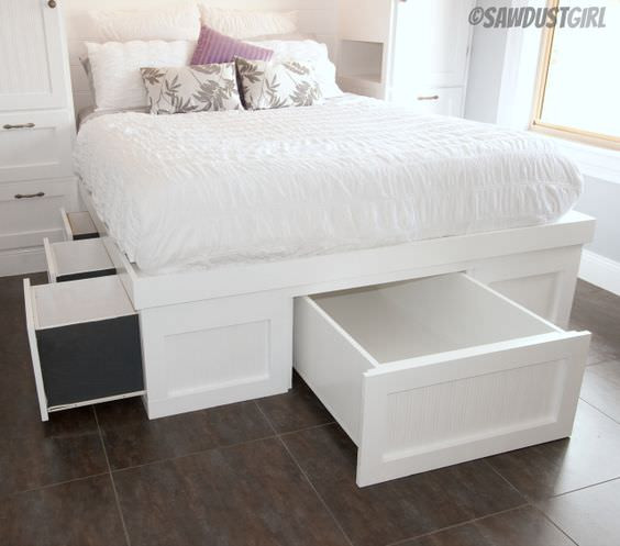Best ideas about DIY Bed With Drawers . Save or Pin DIY Storage Beds • The Bud Decorator Now.
