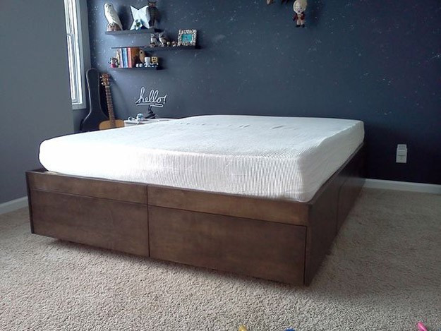 Best ideas about DIY Bed With Drawers . Save or Pin DIY Platform Bed Ideas Now.
