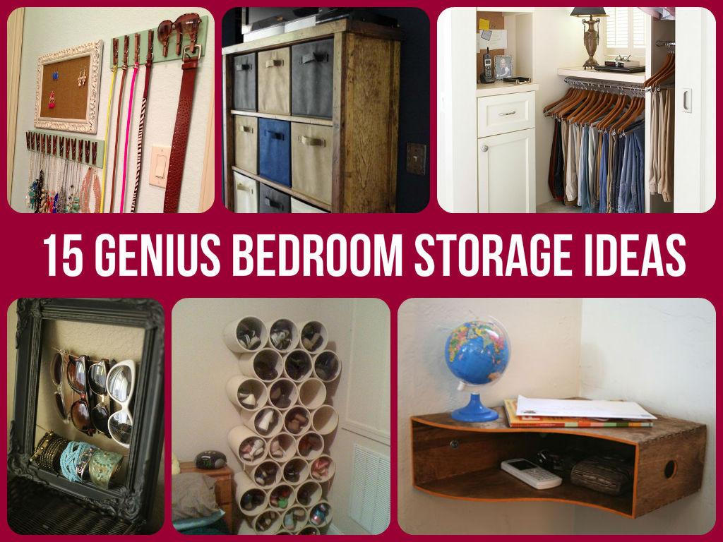 Best ideas about DIY Bedroom Organizers . Save or Pin 15 Genius Bedroom Storage Ideas Now.