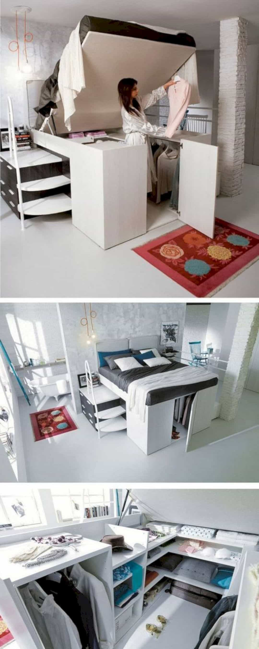 Best ideas about DIY Bedroom Organizers . Save or Pin 17 Stunning DIY Bedroom Storage Ideas – Futurist Architecture Now.