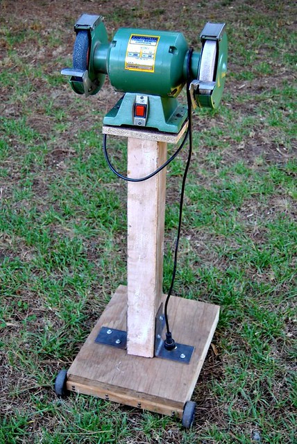 Best ideas about DIY Bench Grinder Stand . Save or Pin diy grinder stand Now.