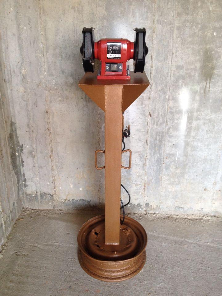 Best ideas about DIY Bench Grinder Stand . Save or Pin 1000 ideas about Bench Grinder on Pinterest Now.