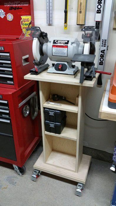 Best ideas about DIY Bench Grinder Stand . Save or Pin Grinder Stand Garage Organization Now.