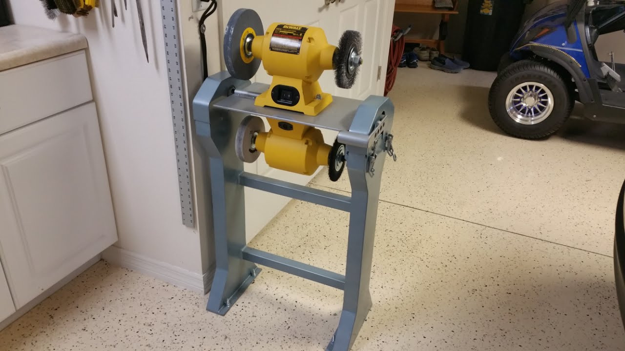 Best ideas about DIY Bench Grinder Stand . Save or Pin Rotating Dual Bench Grinder Stand Now.