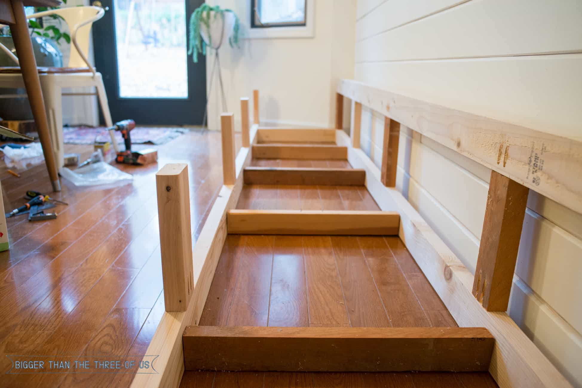 Best ideas about DIY Bench Seating . Save or Pin Built in Banquette Tutorial Bigger Than the Three of Us Now.