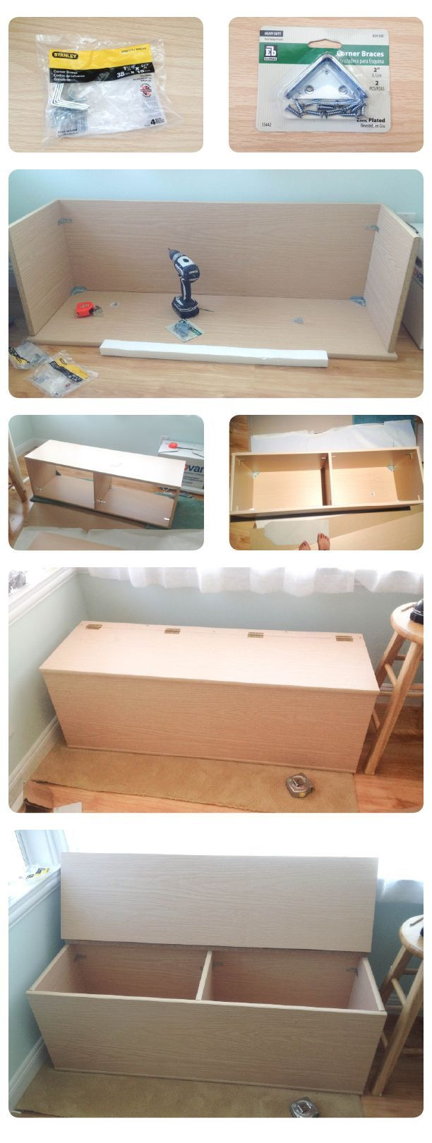 Best ideas about DIY Bench Seating . Save or Pin the making of storage bench Now.