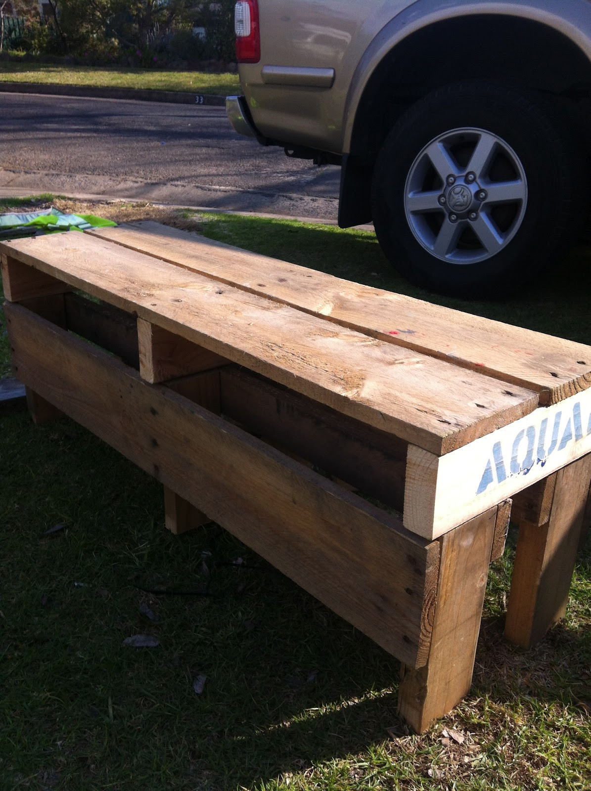 Best ideas about DIY Bench Seating . Save or Pin Sustainable living DIY pallet bench seat step by step Now.