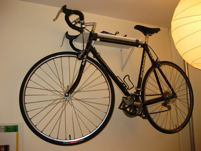 Best ideas about DIY Bicycle Wall Mount . Save or Pin DIY Custom Made Wall Mount Bike Rack & Shelf Now.
