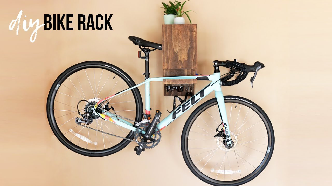 Best ideas about DIY Bicycle Wall Mount . Save or Pin DIY Bike Rack With Storage Now.