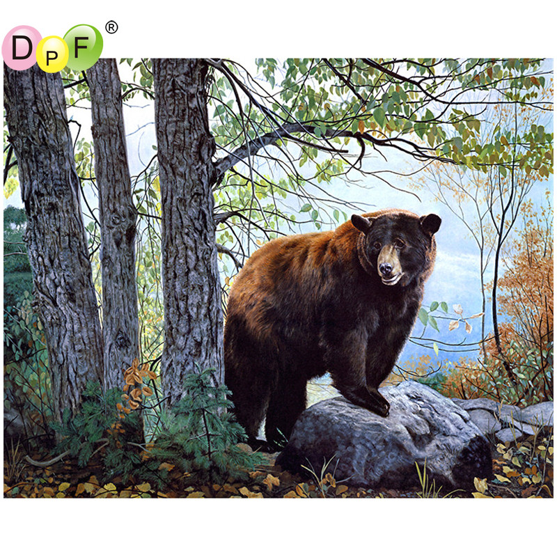 Best ideas about DIY Big Bear . Save or Pin DPF DIY Big brown bear 5D full square diamond painting Now.
