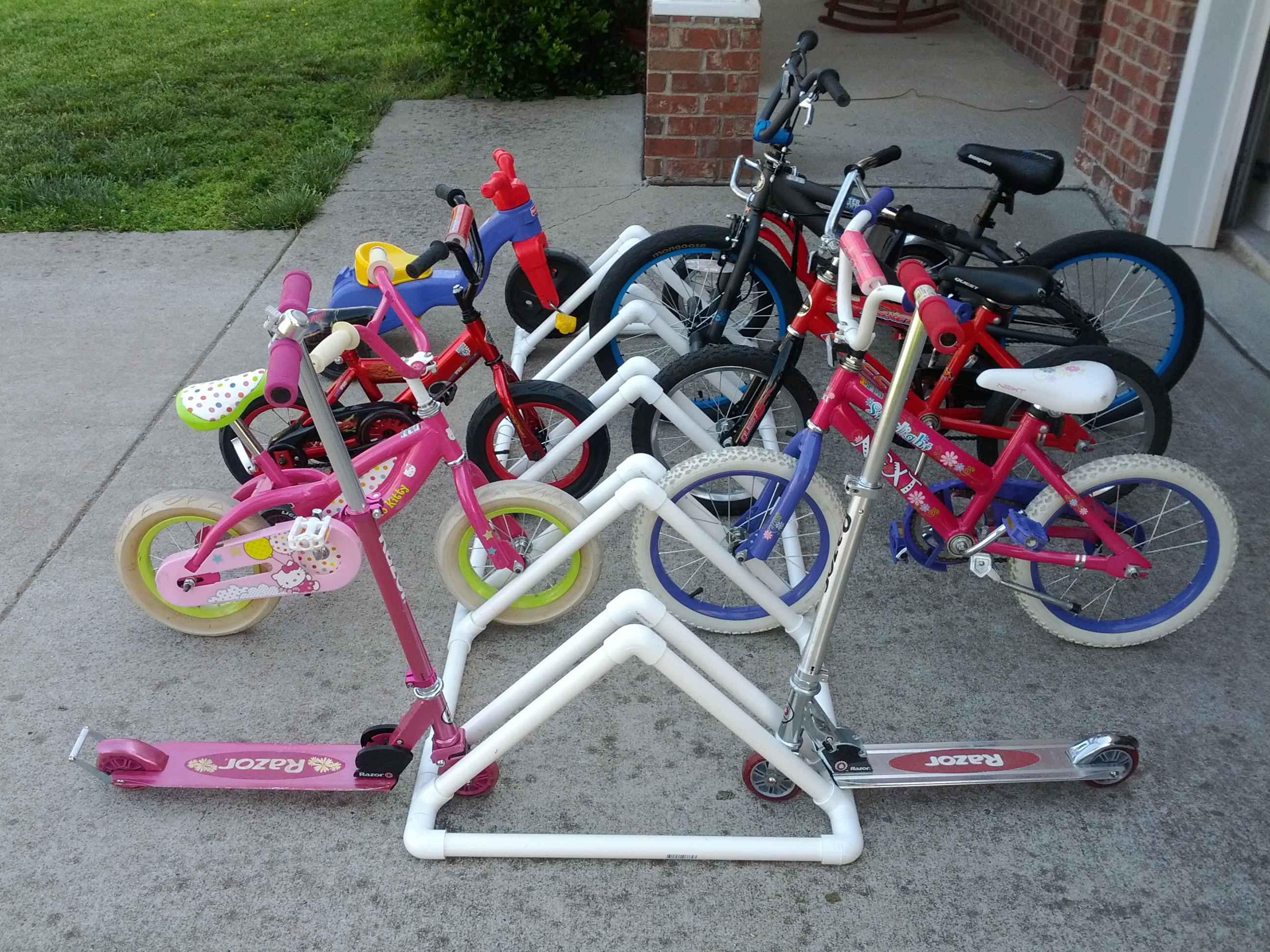 Best ideas about DIY Bike Racks . Save or Pin Project 4 – DIY Bike Rack Made from PVC Pipe Now.